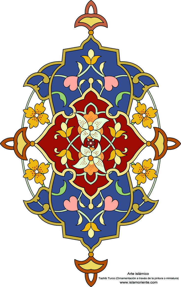 Persian Wallpaper Medallion, from the Persian Roomset under.