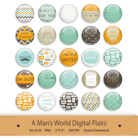Flairs Flair Button Clipart Scrapbooking Brads by GoneDigital.