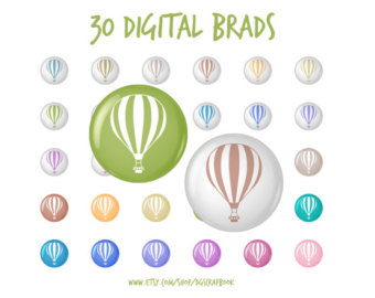 Digital Brads Polka Dot Buttons Tacks Clip Art 30 images by.