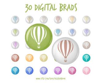 Digital Brads Polka Dot Buttons Tacks Clip Art 30 images by.