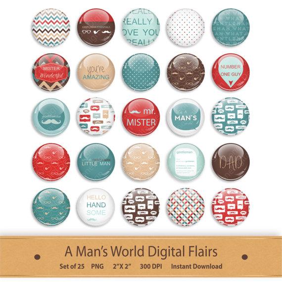 Digital Flairs Clipart Digital Scrapbooking Brads Printable by.