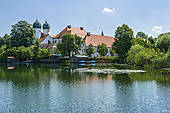 """Pictures of """"Benedictine monastery Seeon with monastery church of."""