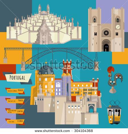 Braga Portugal Stock Vectors & Vector Clip Art.