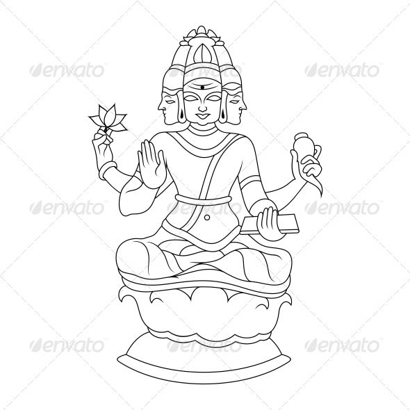 Brahma Religious Vector Design by vecras.