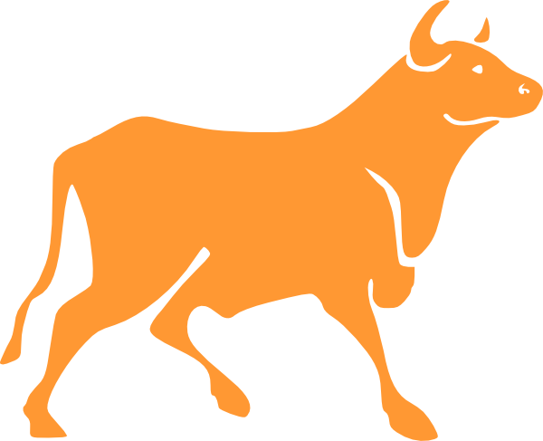 Brahman bull clipart.