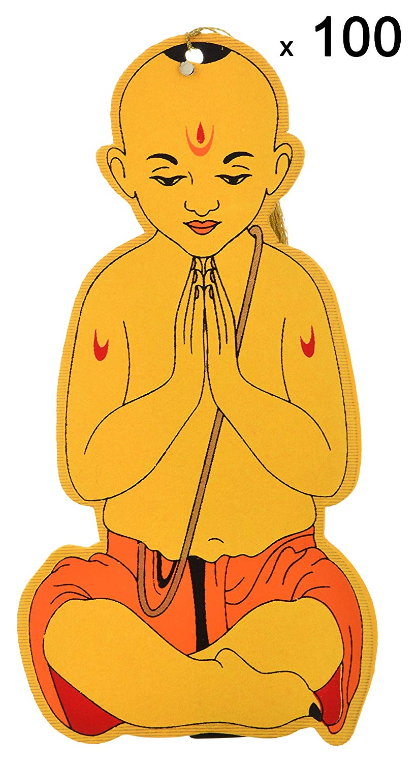 Shubham Upanayana Cards, 5 inches x 10 inches, Pack of 100.