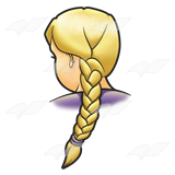 French braid clipart.
