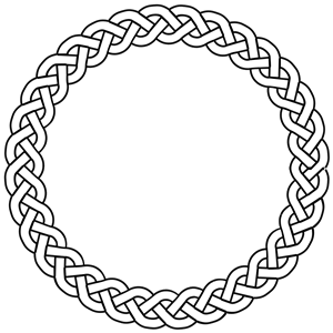 Braided rope clipart.