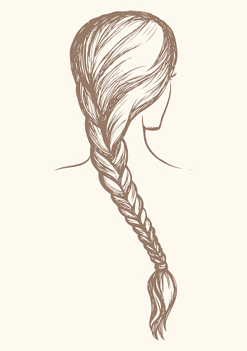 Braided Hair Clipart.