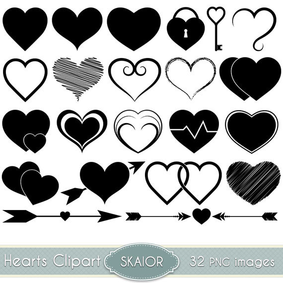 Clipart braided hearts.