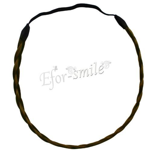 Women's Boho Hippie Braided Plaited Headband Twisted Elastic.