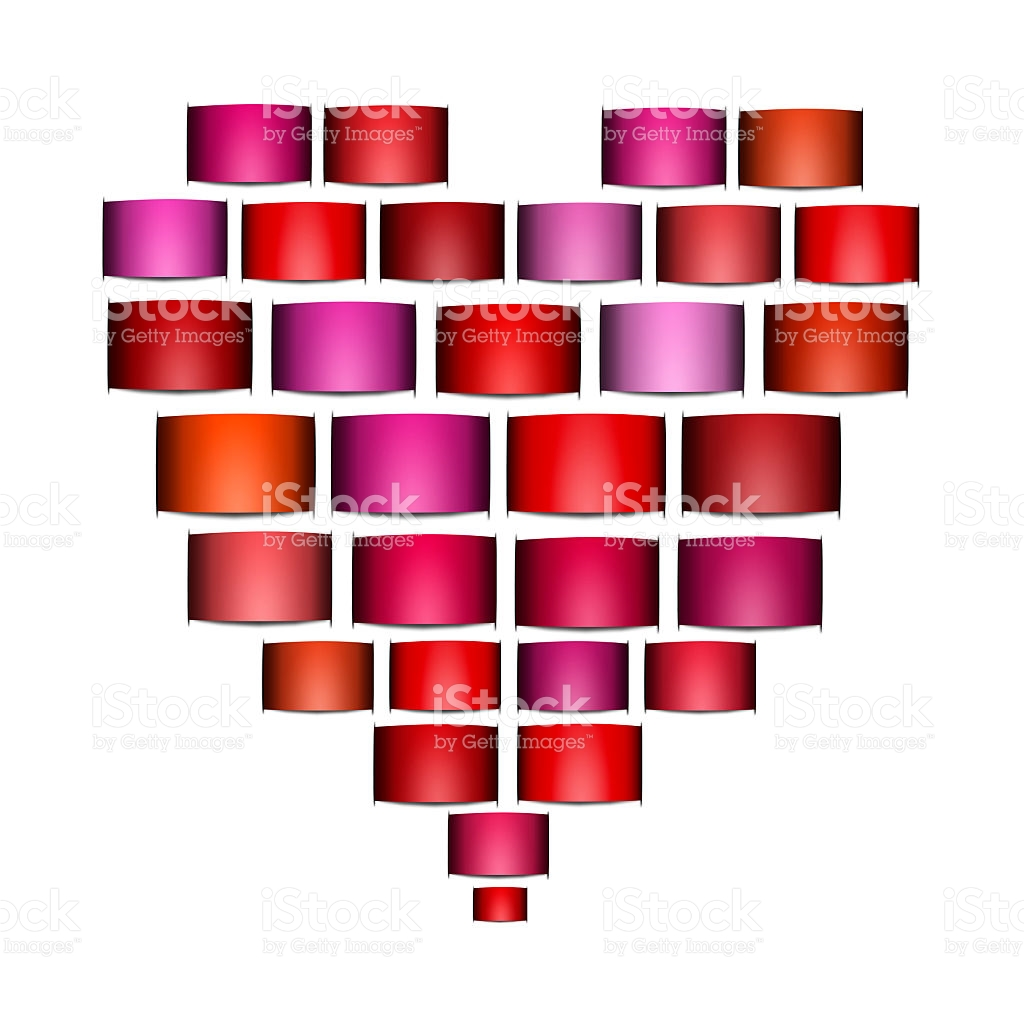 Heart Made Of Braided Red Stripes stock vector art 469812020.