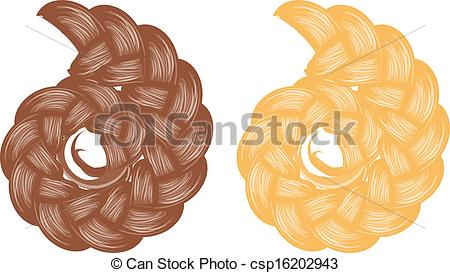 EPS Vector of Braided bun.