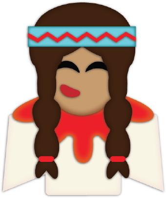 Indian Girl Braids clip art.