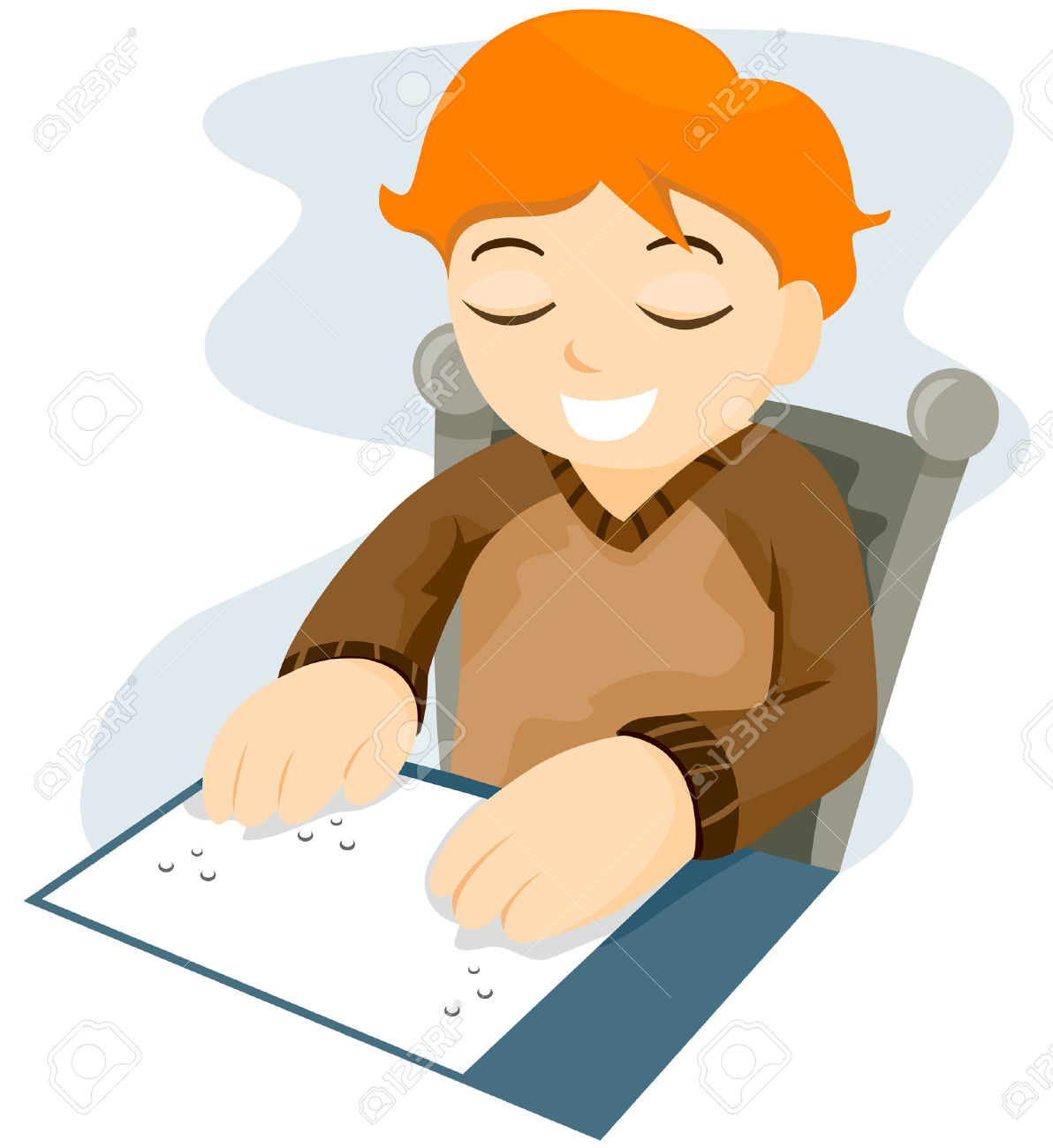 Braille Reading With Clipping Path Royalty Free Cliparts, Vectors.