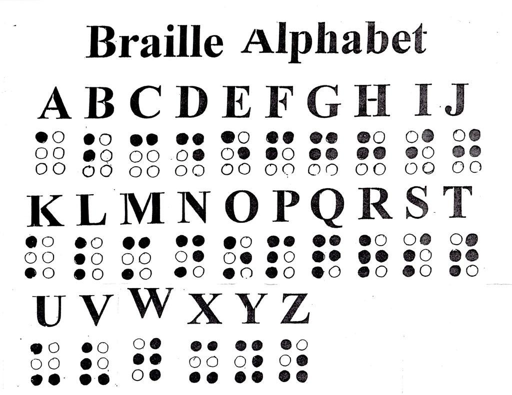 Braille clipart.