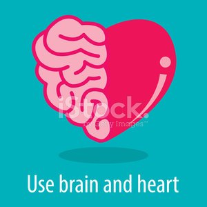 Brain and heart Clipart Image.