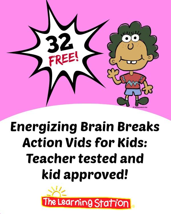 32 FREE Energizing Brain Breaks Vids for Kids!.