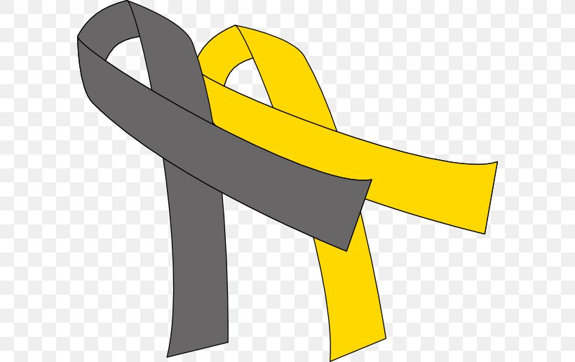 Awareness Ribbon Gold Cancer Clip Art, PNG, 600x516px.