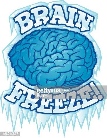 Brain Freeze premium clipart.
