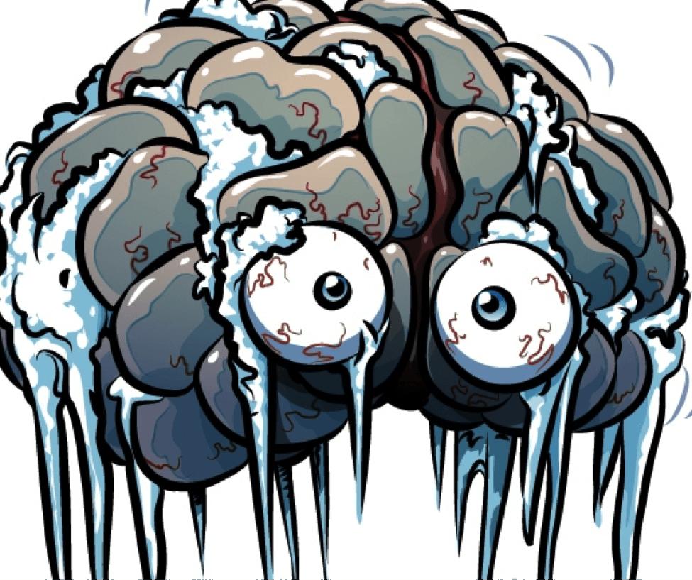 Brain freeze clip art.
