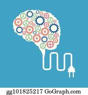 Brain Gears Clip Art.