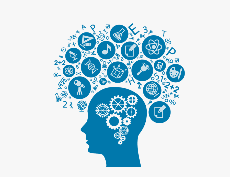 Brain Gears Icon Png Image.