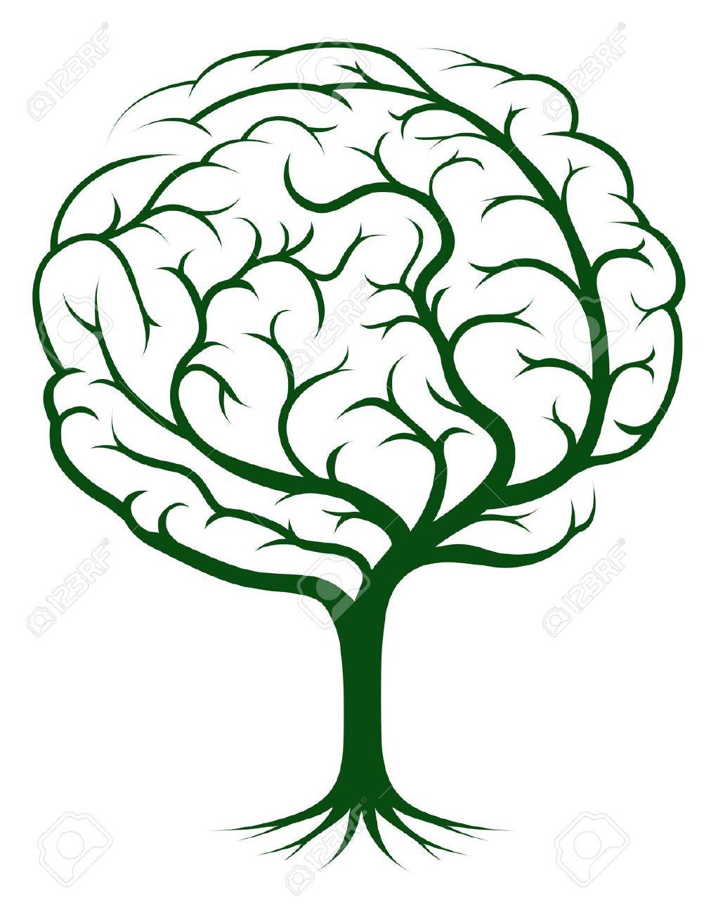 Brain Tree Illustration, Tree Of Knowledge, Medical, Environmental.