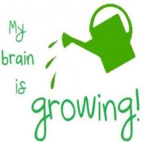 Brain Growing Clipart.