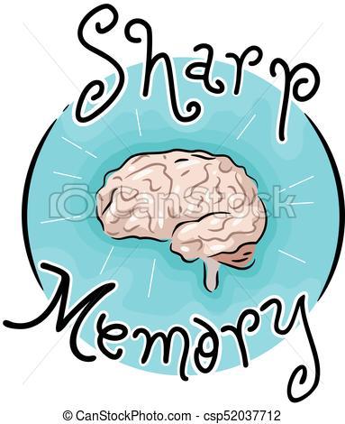 Sharp Memory Icon Illustration.