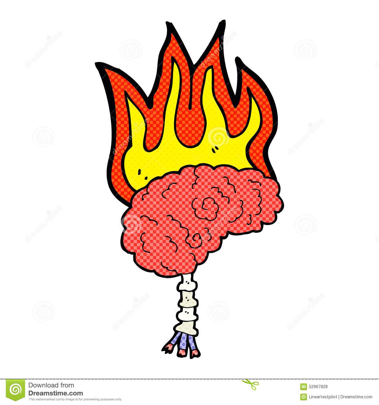 Brain On Fire Clipart.