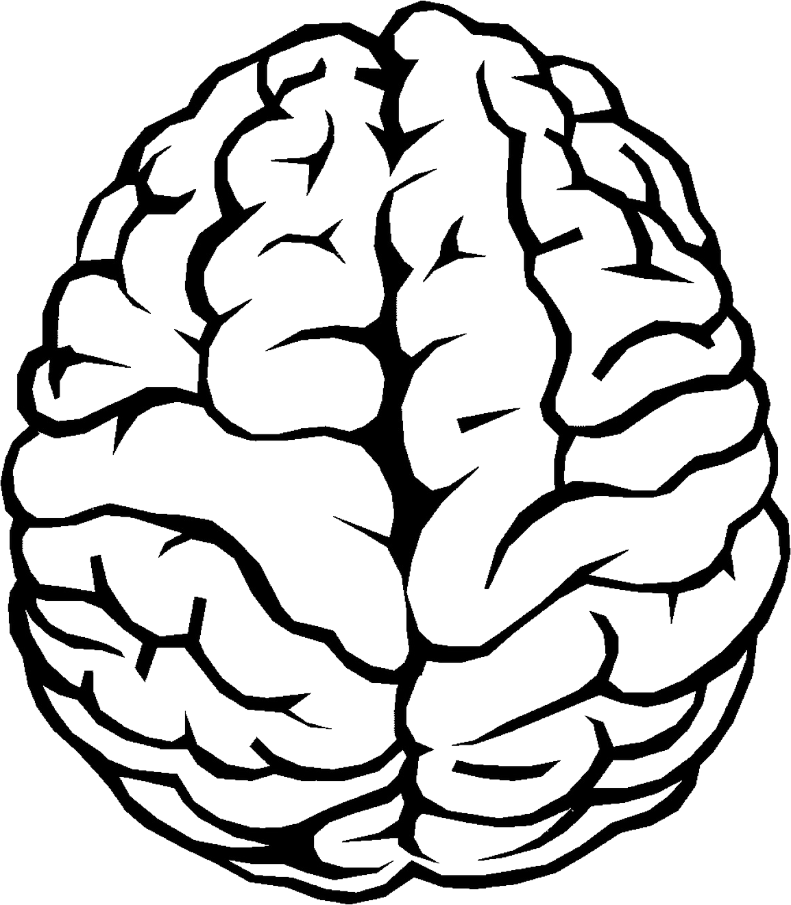 Brain Outline PNG Image.