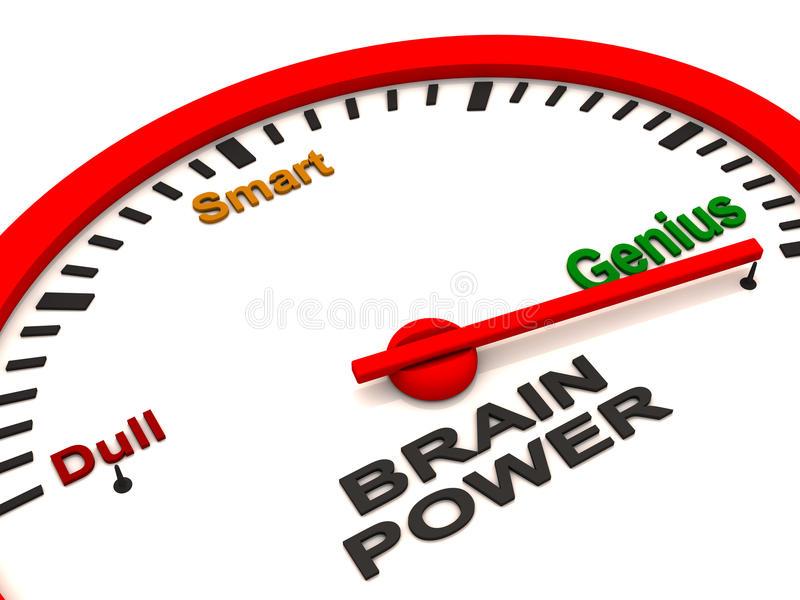 Brain Power Stock Illustrations.