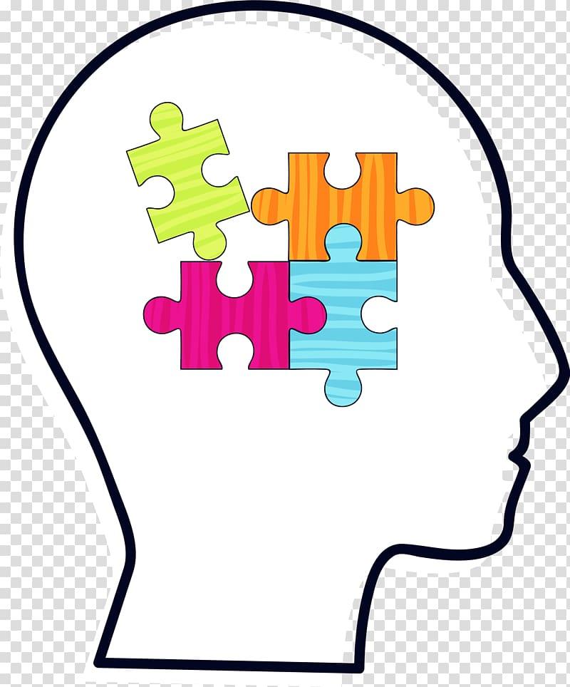 Brain , Black brain puzzle transparent background PNG.