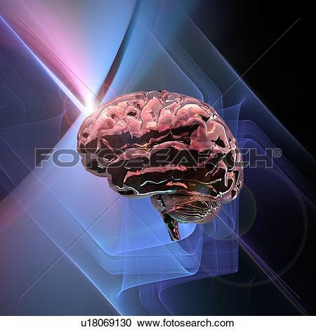Stock Photography of Brain research, conceptual artwork u18069130.