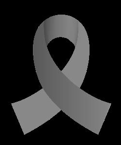 Grey Brain Tumor Awareness Ribbon.