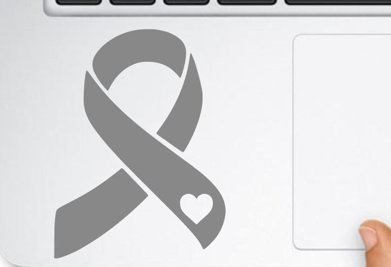 brain cancer awareness decal, brain tumor ribbon Vinyl Sticker, vinyl Wall  Stickers, cancer awareness wall sticker, removable wall decor.