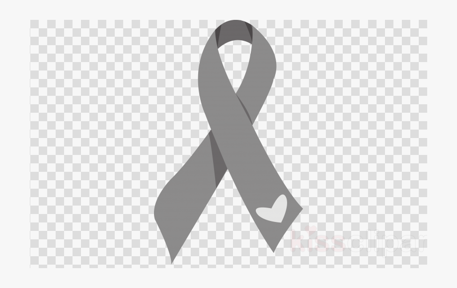 Terrific Brain Cancer Ribbon Clip Art.