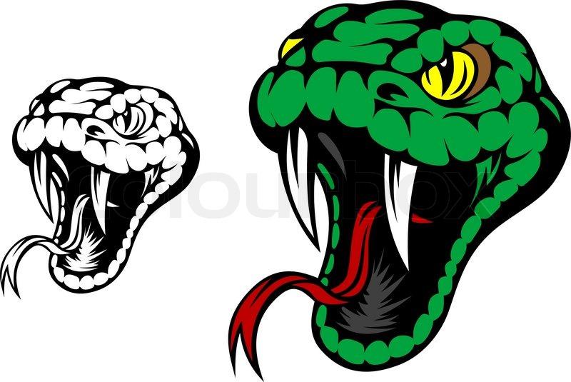 Green snake mascot.