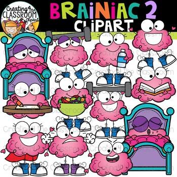 Brainiac 2 Clipart {Brain Clipart}.