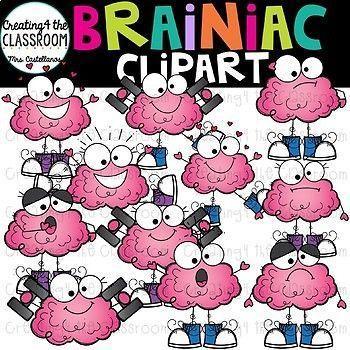 Brainiac Clipart {Brain Clipart}.