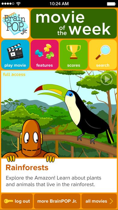 BrainPOP Jr. Movie of the Week on the App Store.