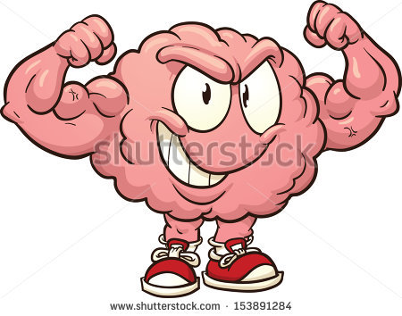 Cartoon brains clip art.