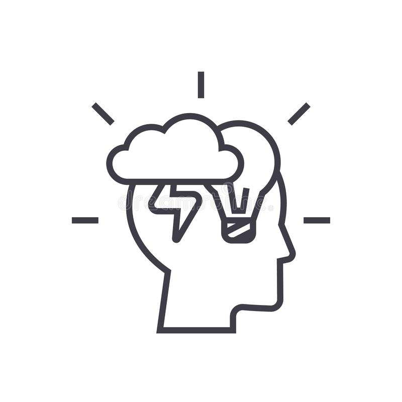 Brainstorm Symbol Stock Illustrations.