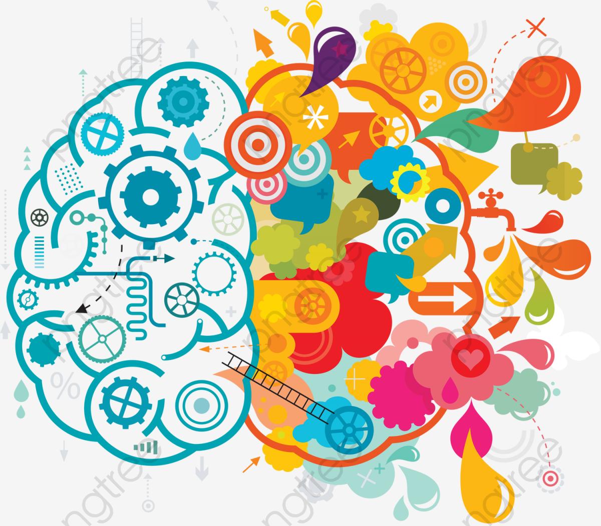 Blue Color Creative Brainstorming Ideas, Color Clipart, Creative.