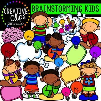 Brainstorming Kids {Creative Clips Digital Clipart}.