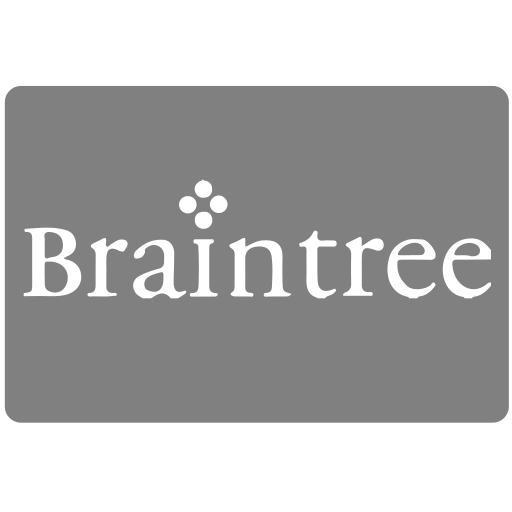 Braintree, methods, payment icon.