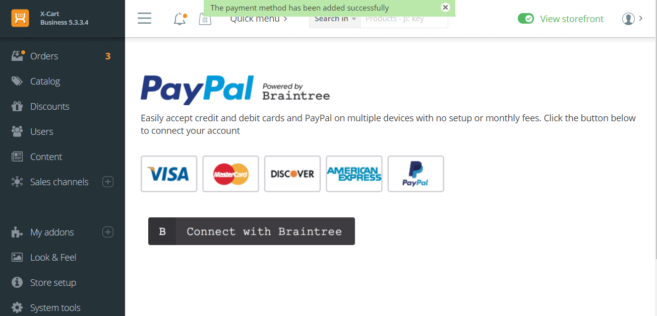 Enabling and Configuring PayPal Powered by Braintree Payment.