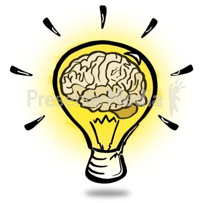 Brainy Light Bulb.
