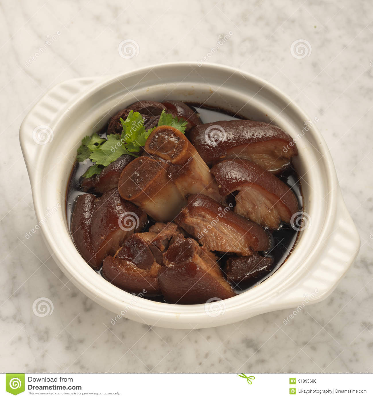 Braised Peanuts Stock Photography.